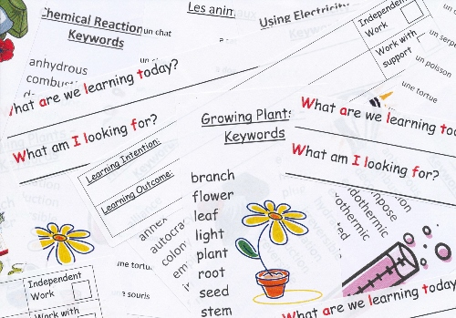 School Labels For Lesson Planning