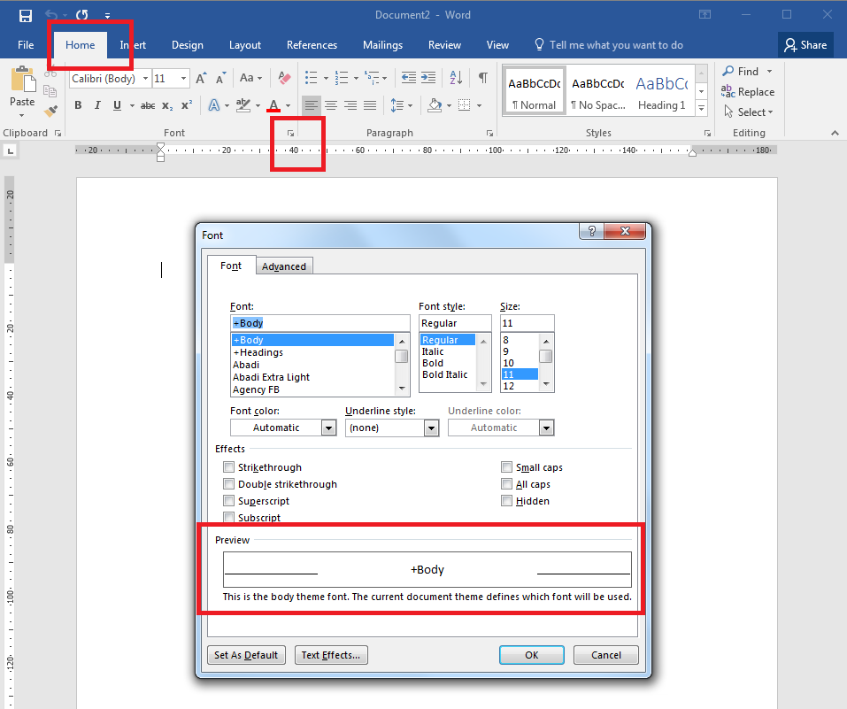 How to format text in Word