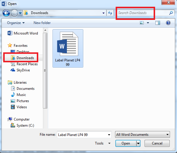 How to find a saved template in Microsoft File Explorer