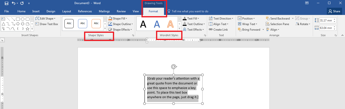 How to format text boxes in Word