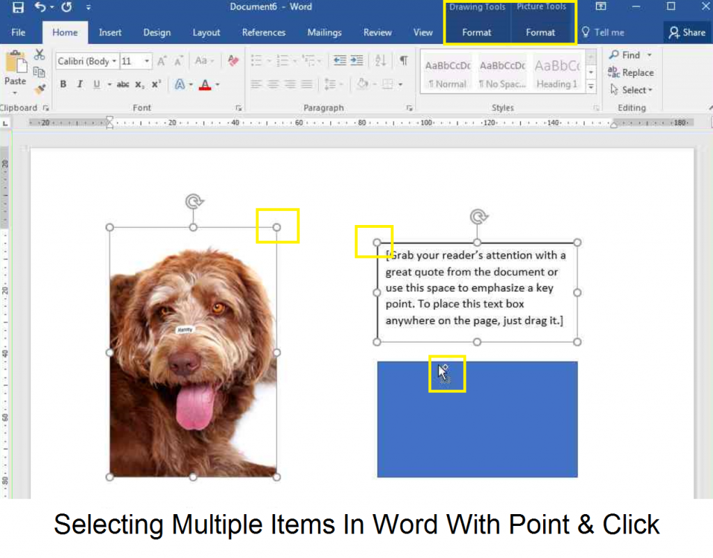 Selecting Multiple Items In Word Label Templates Using Point & Click