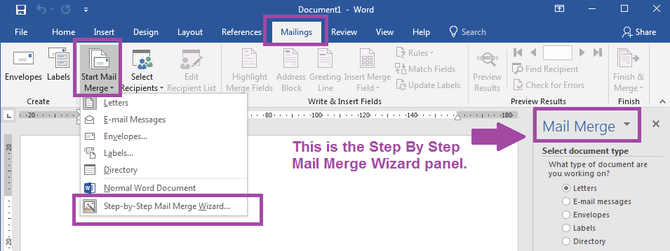 Label Templates Mail Merge - Start The Mail Merge Wizard