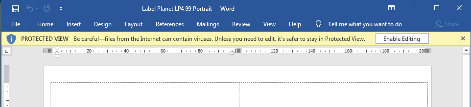 How to Enable Editing in Word label templates