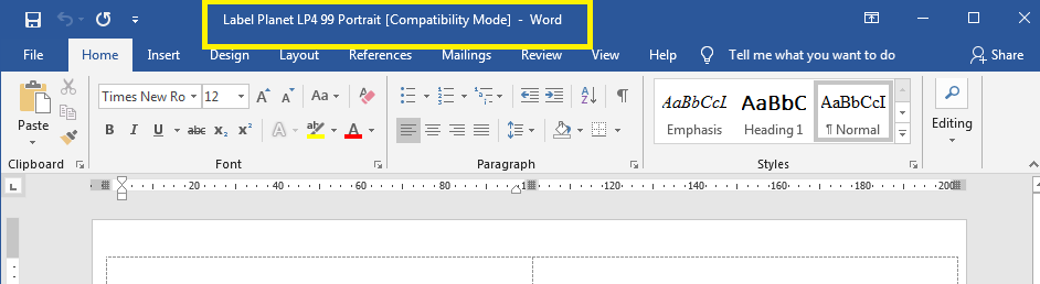 Compatibility mode warning in Word